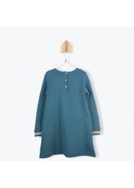 Petrol blue fleece girl's dress