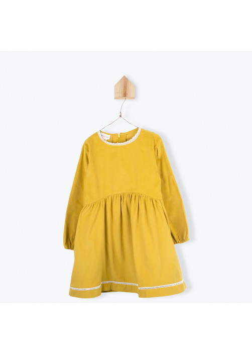 Ochre corderoy girl's dress
