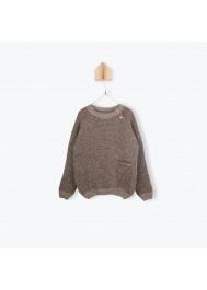 Brown garter stitch children's pullover