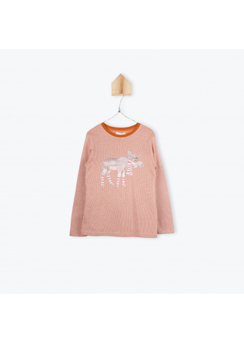 Orange striped boy's T-shirt