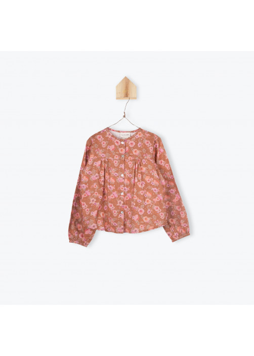 Camellias pattern girl's blouse