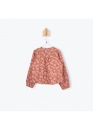 Camellias pattern girl's blouse