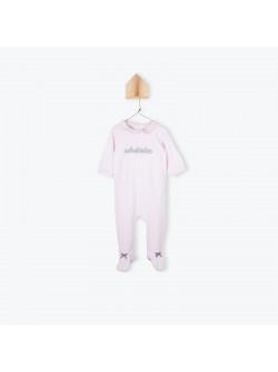 Powder pink baby girl's pyjama