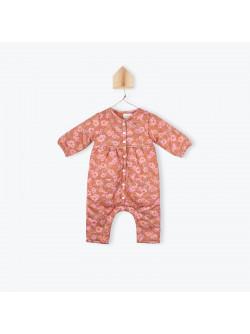 Camellias pattern baby's jumpsuit