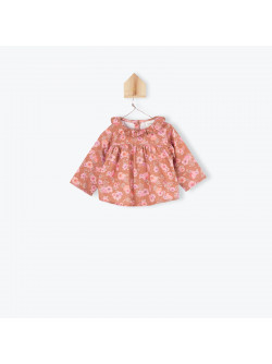Camellias pattern baby's blouse