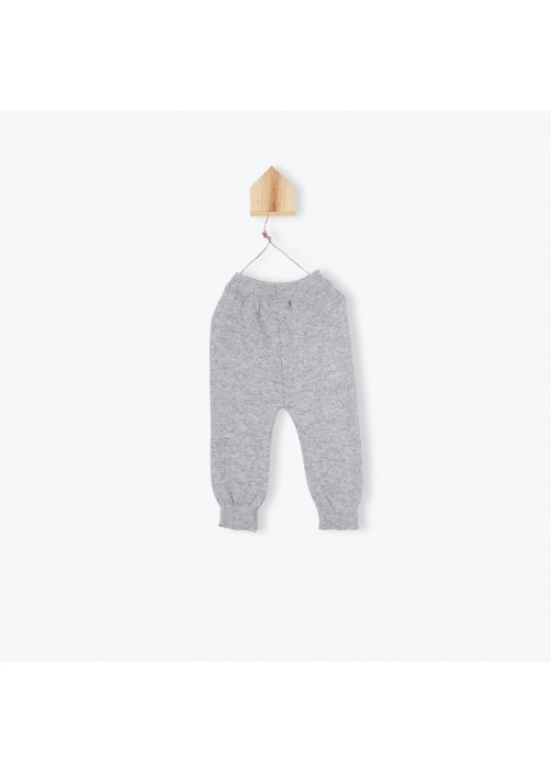 Leggings bébé gris chiné Daim