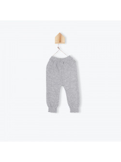 Heather grey knitted baby's pant