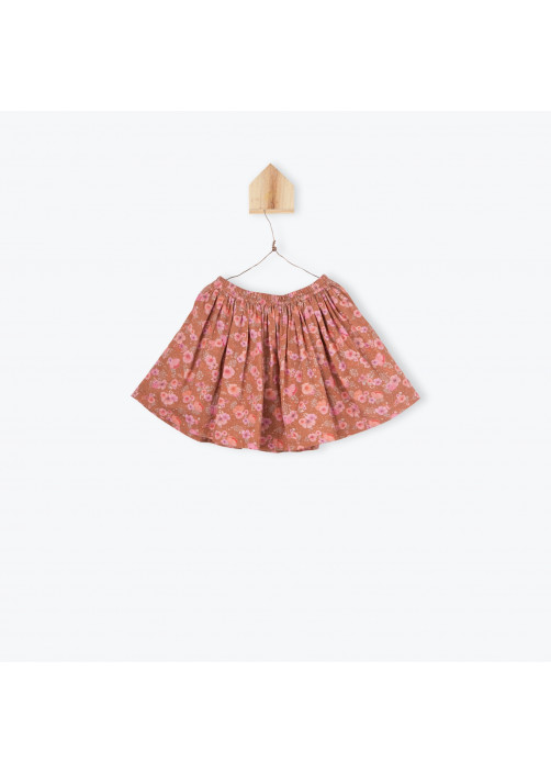 Camellias pattern girl's skirt
