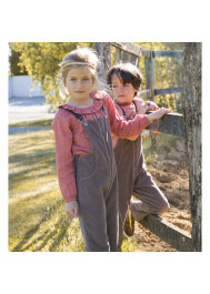 Chestnut velvet children's dungaree