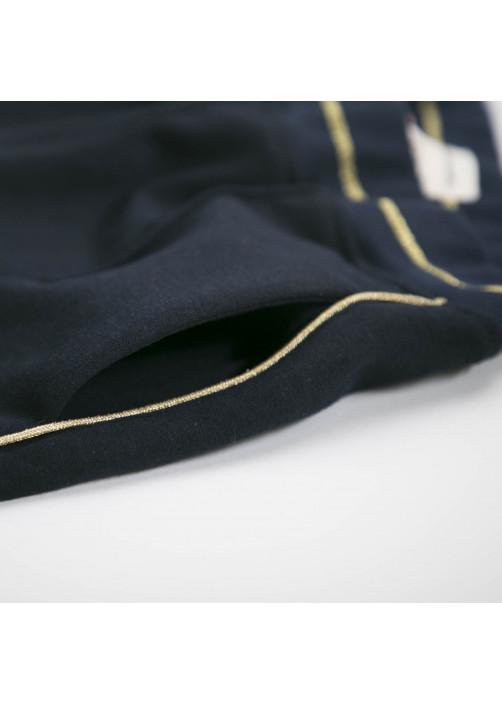 Pantalon femme en molleton marine