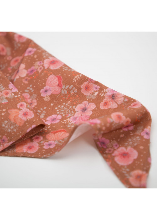 Camellias printed scarf