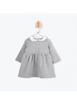 Faux-fur collar baby's dress