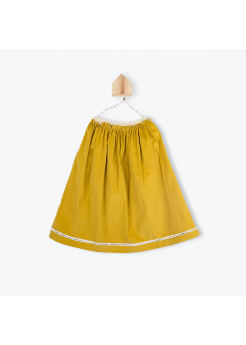 Ochre corderoy long skirt