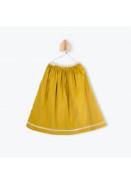 Ochre corderoy long skirt