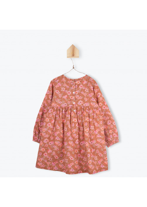 Camellias pattern girl's dress