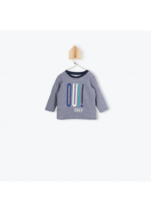 Striped navy blue baby's T-shirt