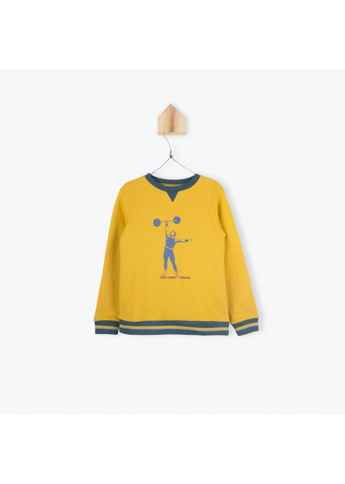 Bicolor fleece boy's sweater