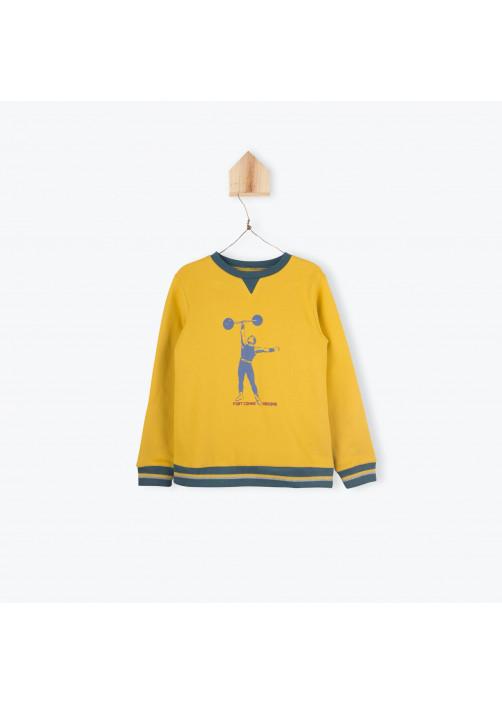 Bicolor fleece boy's sweater
