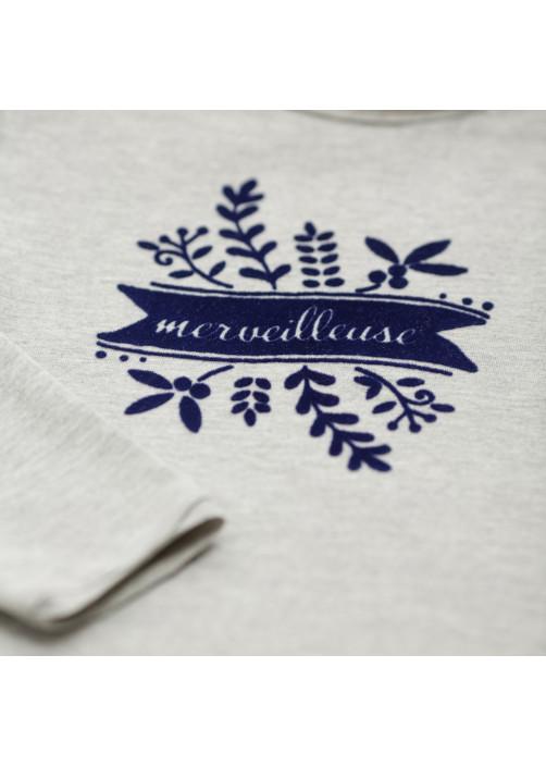 Heather grey girl's T-shirt