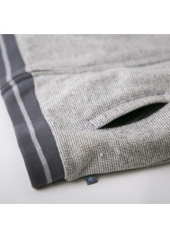 Heather grey and sherpa baby's jacket