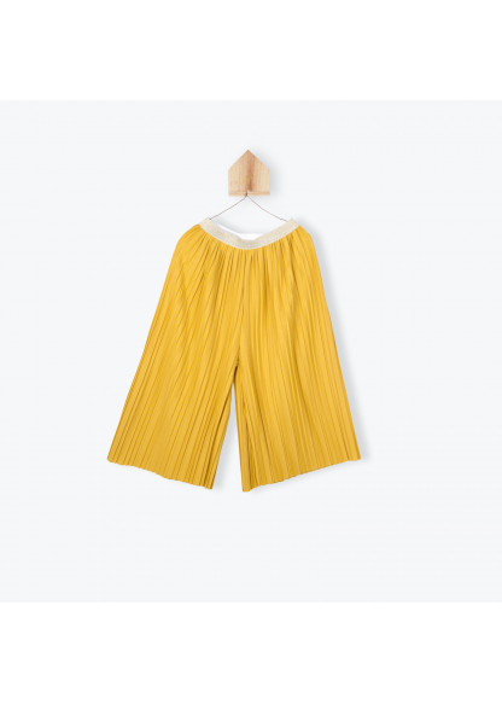 Pantalon plissé ocre