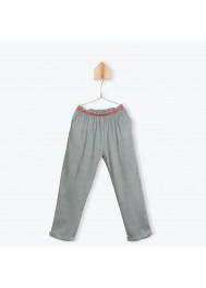 Grey printed girl's pants