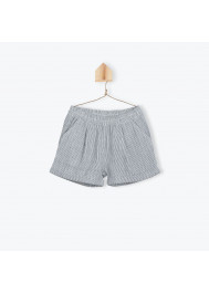 Blue striped girl's shorts