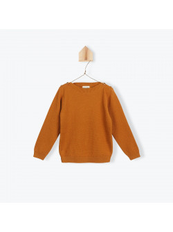 Caramel knitted rice stitch sweater