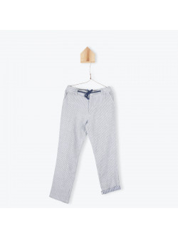 Pantalon rayé bleu indigo
