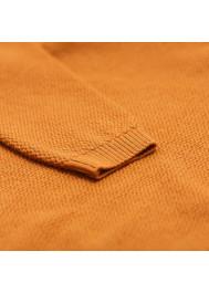 Caramel knitted rice stitch sweater