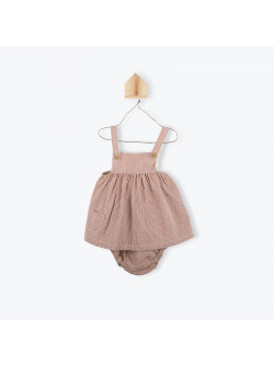 Terracota gingham baby's dress