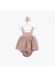 Terracota gingham baby's dress