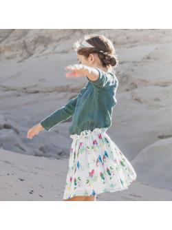 Parrots printed girl's skirt