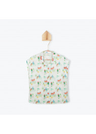 Woman's parrots blouse