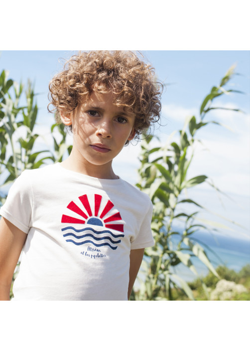 White printed boy's T-shirt