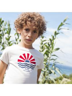 White printed boy's T-shirt