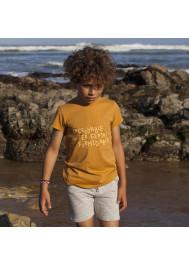 T-shirt garçon caramel Incroyable