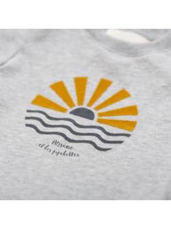 T-shirt bébé garçon gris chiné Soleil