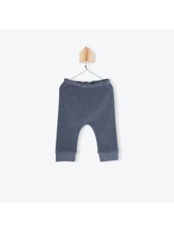 Grey terrycloth baby's leggings