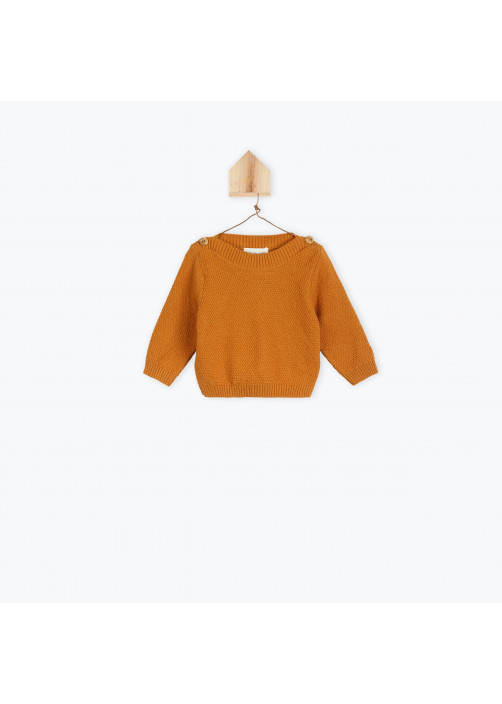 Caramel knitted baby's sweater