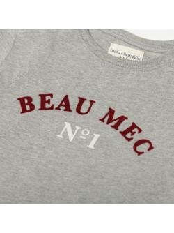 T-shirt garçon gris chiné Beau mec