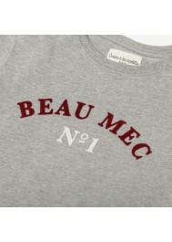 T-shirt bébé garçon gris chiné Beau mec
