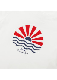 T-shirt garçon blanc Soleil
