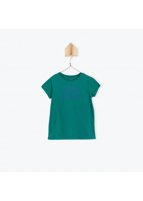 Green Incroyable boy's T-shirt