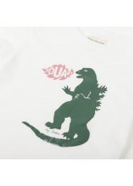 T-shirt garçon blanc Godzilla