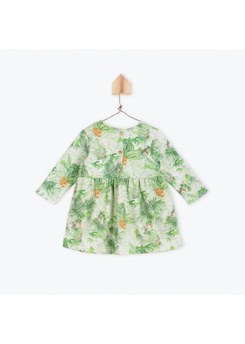 Jungle printed fleece baby's dress