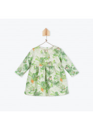 Jungle printed fleece baby's dress