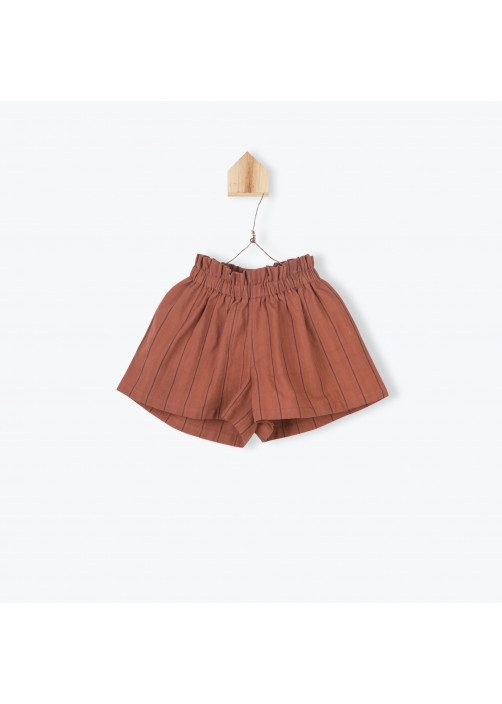 Paprika striped girl's short skirt