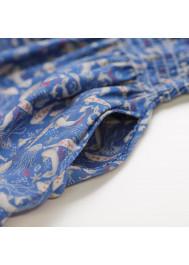 Medusa printed smocked girl's dress