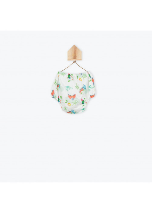 Parrots printed baby's bloomer